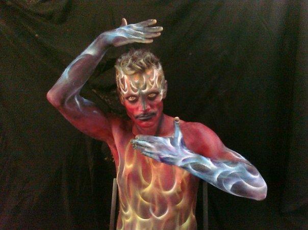 Flames Body Paint